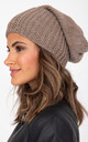 Slouch Beanie Hat Merino Wool Mocha Brown by likemary