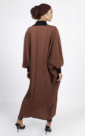 Plisse Kimono - Brown by Neish Clothing