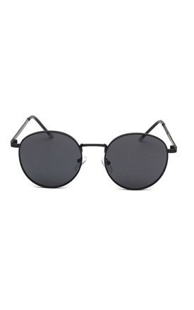 Annalise Circle Sunglasses In Black by Don't Be Shady