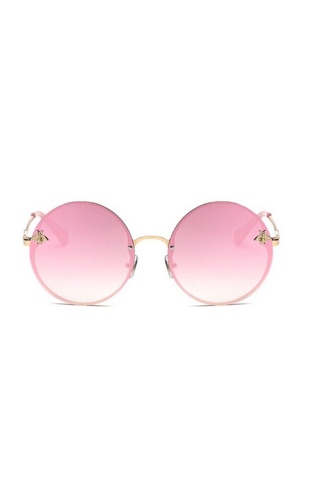 Bey Large Circle Pink Sunglasses by Don't Be Shady
