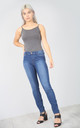 High Waist Light Blue Denim Jeans by Oops Fashion
