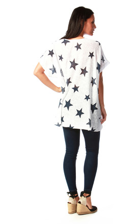 White Star Top with a Scarf by Want That Trend