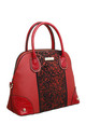 GLITTERY SHELL SHAPED TOTE BAG RED by BESSIE LONDON