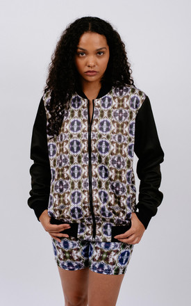 Abstract Print Bomber by Chronicles Clothing Product photo