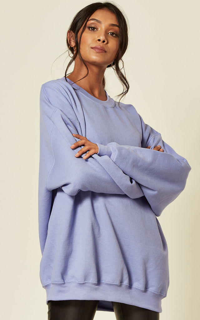 Lilac Oversized Sweatshirt by Pharaoh London