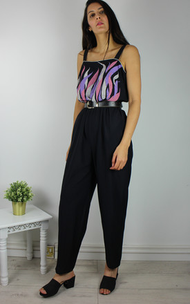 Vintage Black Jumpsuit With Embroidered Top by Re:dream Vintage Product photo