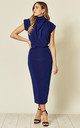 Gracie Midi Dress in Cobalt by House Of Lily
