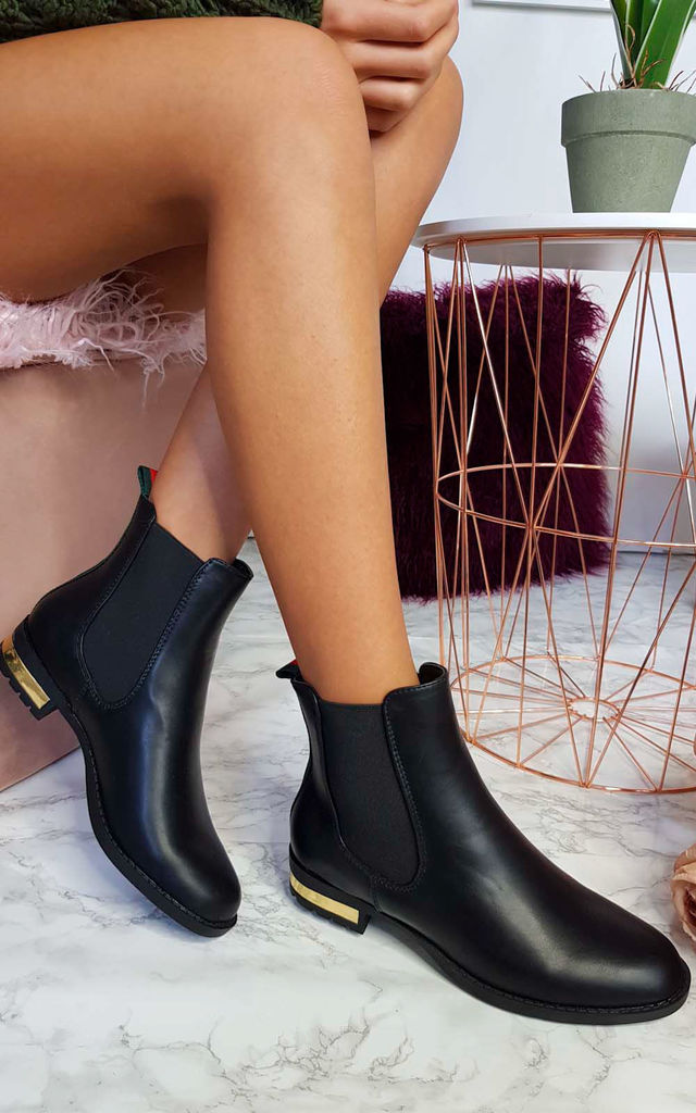 Daina Patent Ankle Boots in Black by IKRUSH