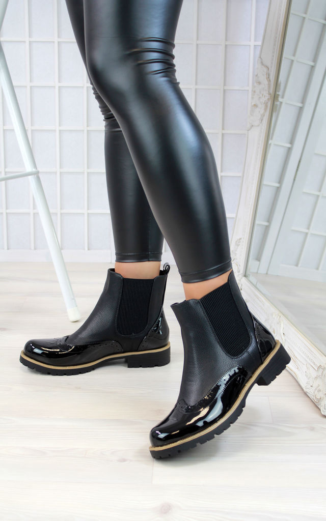 Kaila Ankle Boots in Black by Larena Fashion