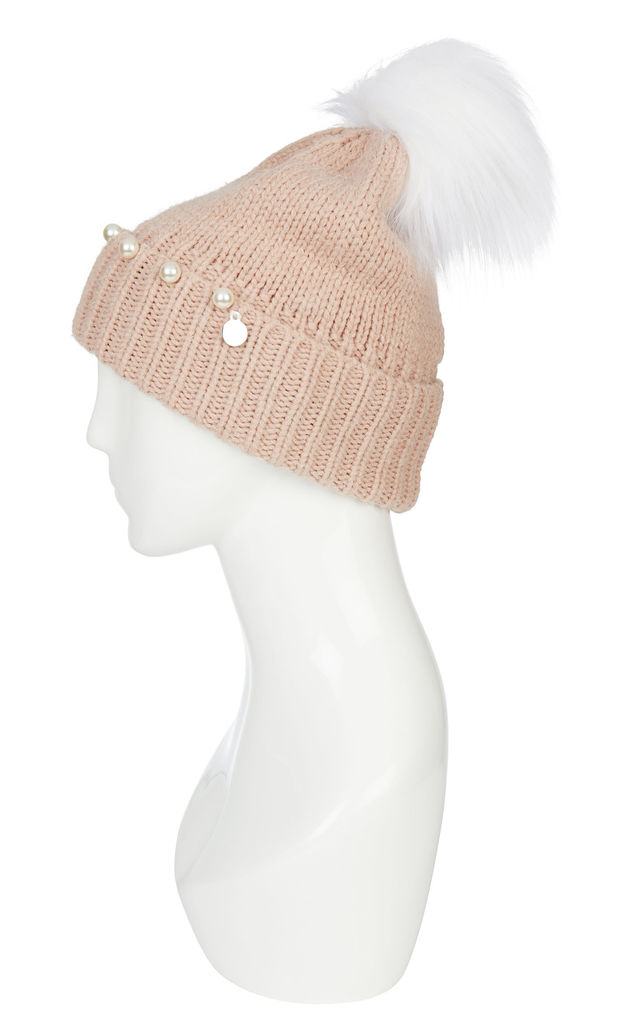 Hat With Pom Poms Angel/Pink by Urbancode London