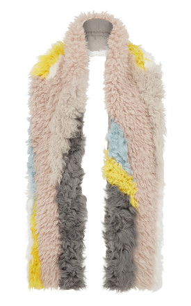 Vianna Multicoloured Faux Fur Scarf by Urbancode London Product photo