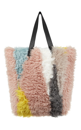 Kallie Multicoloured Faux Fur Bag by Urbancode London Product photo