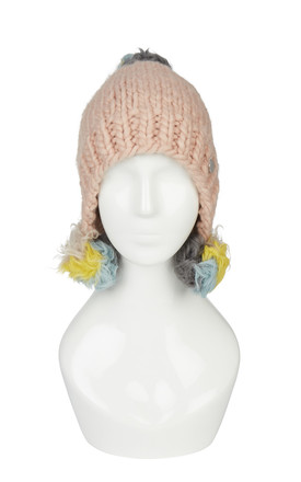 Zora Pink Hat With Pom Poms by Urbancode London Product photo