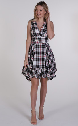 Tartan Trench Wrap Dress by Blonde And Wise