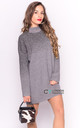 Silver Metallic Jumper Dress with High Neck by CY Boutique