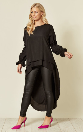 Marie Sleeve Top In Black by FS Collection