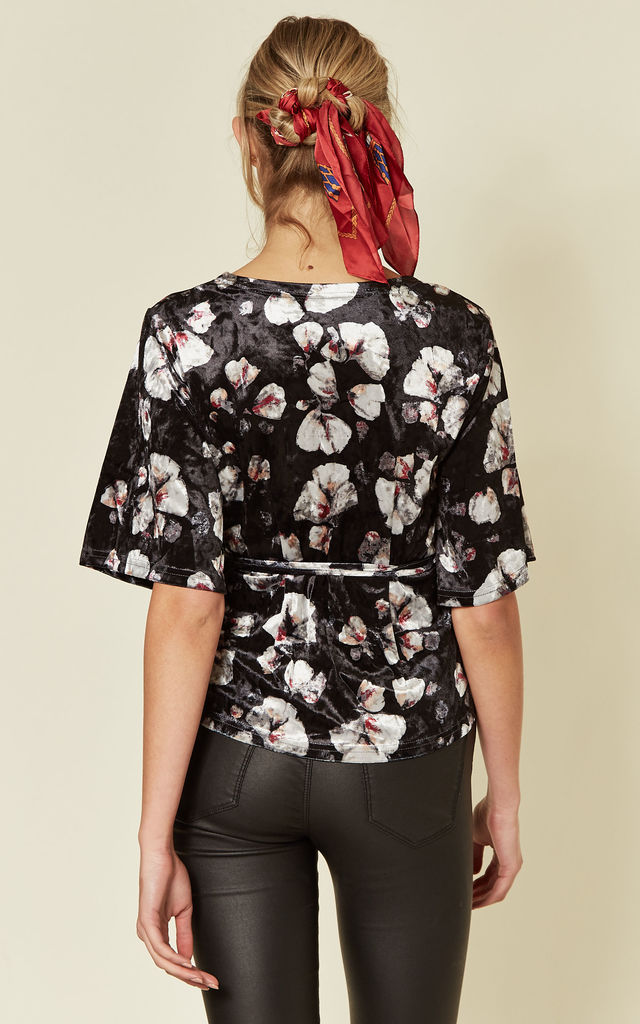 Indi Velvet Wrap Top with Floral Print by SUGARHILL BRIGHTON