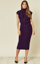 Gracie Midi Dress in Royal Purple Prada by House Of Lily