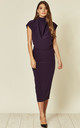 Gracie Midi Dress in Dark Purple Prada by House Of Lily