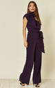 Belted Gracie Jumpsuit in Dark Purple Prada by House Of Lily