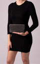 Dakota Black Diamante Foldover Clutch Bag by KoKo Couture