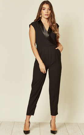 Joanna Black Tuxedo Jumpsuit by SUGARHILL BRIGHTON