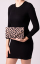 Mila Light Leopard Faux Leather Envelope Bag by KoKo Couture
