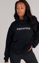 Oversized AQUARIUS Starsign Hoodie in Black by LimeBlonde
