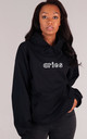 Oversized ARIES Starsign Hoodie in Black by LimeBlonde