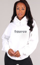 Oversized TAURUS Starsign Hoodie in White by LimeBlonde