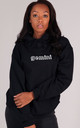 Oversized GEMINI Starsign Hoodie in Black by LimeBlonde