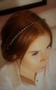 Black night bead swirl headband crown by Kate Coleman