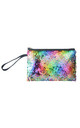 Multi/Silver Reversible Sequin Makeup Bag by Ruby Rocks Boutique