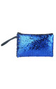 Blue/SIlver Reversible Sequin Makeup Bag by Ruby Rocks Boutique