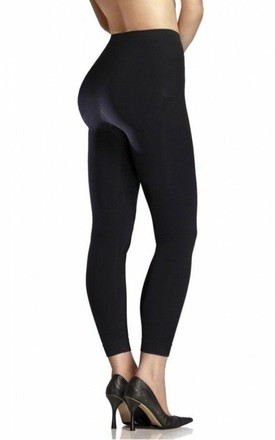 Fleece Leggings in 200 Denier Black by BB Lingerie
