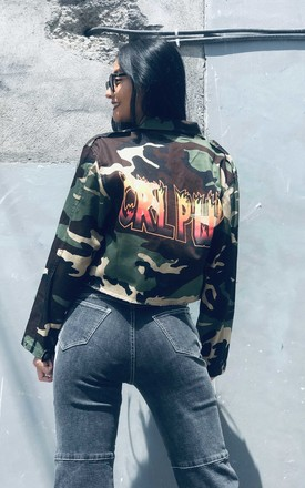 'Formation' Army Jacket In Camo by Cute Mistake Product photo