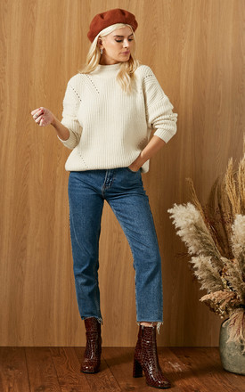Jumper With Turtle Neck In White by VILA Product photo