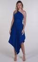 Royal Blue One Shoulder Belle Dress by Blonde And Wise