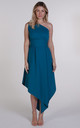 Teal One Shoulder Belle Dress by Blonde And Wise