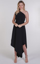 Black One Shoulder Belle Dress by Blonde And Wise