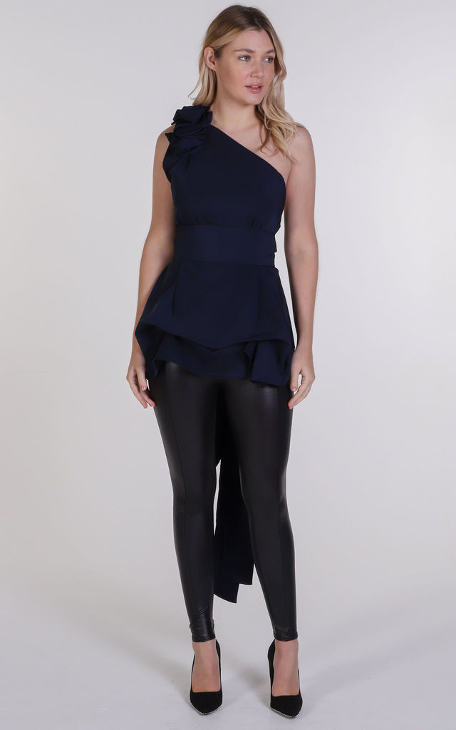 Navy Drew Top by Blonde And Wise