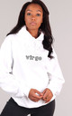 Oversized VIRGO Starsign Hoodie in White by LimeBlonde