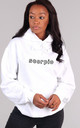 Oversized SCORPIO Starsign Hoodie in White by LimeBlonde