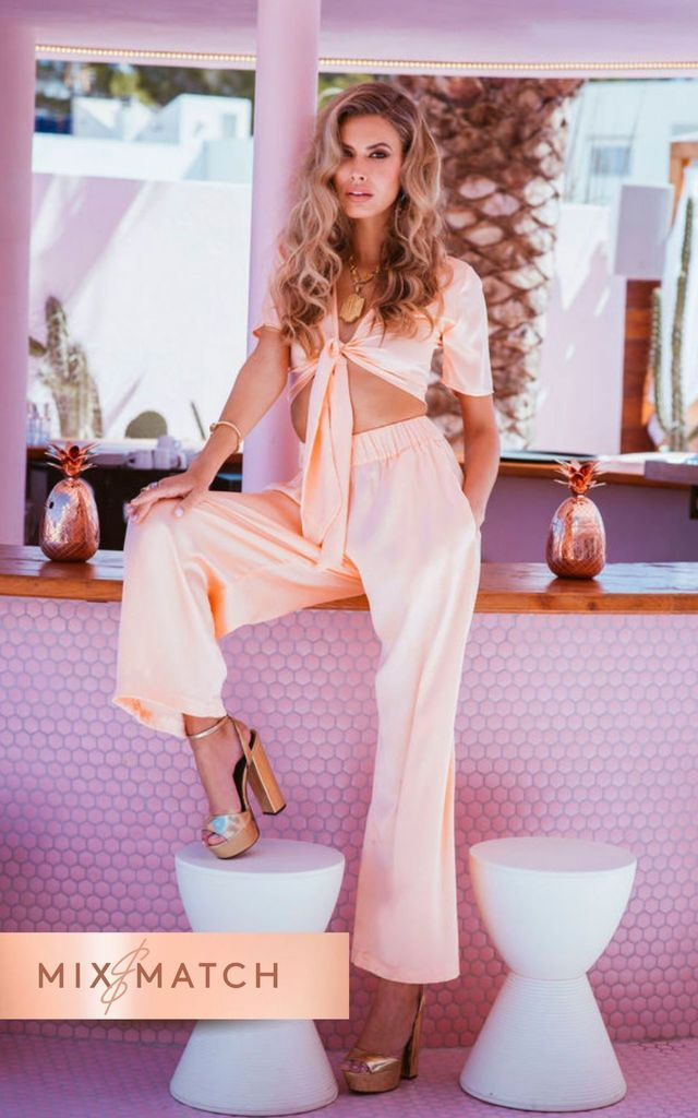 CHINCHILLA PANT in peach by Dancing Leopard