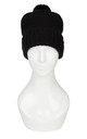 Hat With Pom Poms Black by Urbancode London