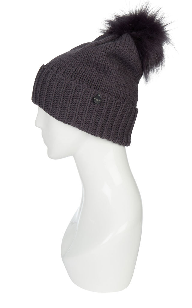 Hat With Pom Poms Navy by Urbancode London