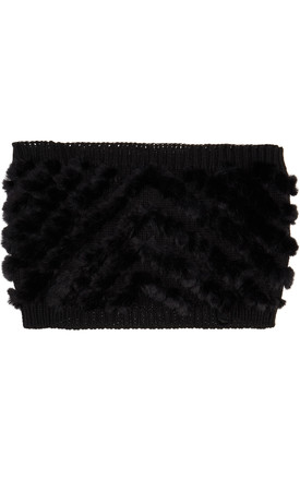 Rain Black Faux Fur And Knit Snood by Urbancode London Product photo