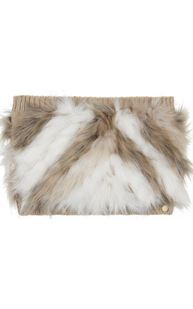 Rain Husky Faux Fur And Knit Snood by Urbancode London Product photo