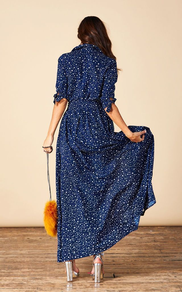 Dove Dress in Navy Star by Dancing Leopard