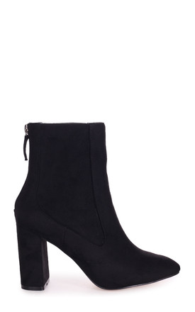 Only Love Black Suede Heeled Boot by Linzi